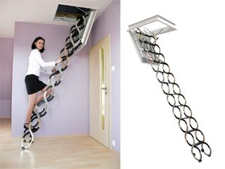 Funkcjonalne schody przeciwpożarowe na strych
