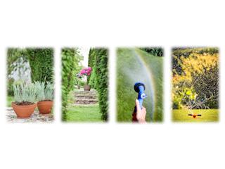 Zadowolna zpięknego ogrodu.