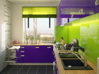 Tęcza kolorów w kuchni i łazience od Laveo.