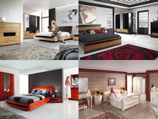 Cztery style w sypialni z meblami Mebin.