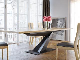 Funkcja i forma – designerski stół z kolekcji Mebin