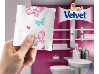 Kolorowy papier toaletowy Velvet.