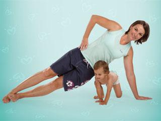 Fitness młodej mamy z dzieckiem dzięki pieluszkom Pampers