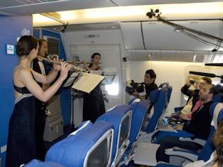 Kuchnia i muzyka najwyższych lotów na pokładzie samolotów KLM.