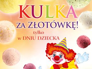 Promocja dla dzieci w lodziarniach Grycan.
