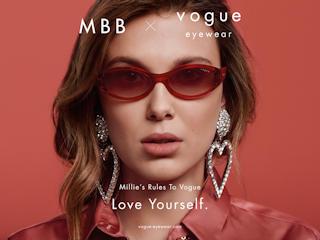Millie Bobby Brown, gwiazda serialu Netflix Stranger Things w roli nowej ambasadorki Vogue Eyewear.