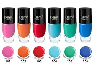 Letnie lakiery your style your choice CLEME COSMETICS zostały zainspirowane podróżami.