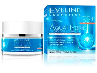 AQUA HYBRID Głęboko nawilżający krem wygładzający zmarszczki 35+ dzień/noc Eveline Cosmetics.