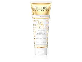 Luksusowe serum modelujące brzuch, uda, pośladki z serii 24K GOLD Eveline Cosmetics.