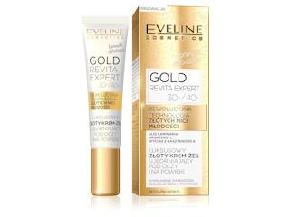 Luksusowy złoty krem-żel ujędrniający pod oczy i na powieki 30+/40+ z serii Gold Revita Expert.