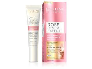 Różany krem rozświetlający pod oczy i na powieki z serii ROSE REVITA EXPERT™ Eveline Cosmetics.
