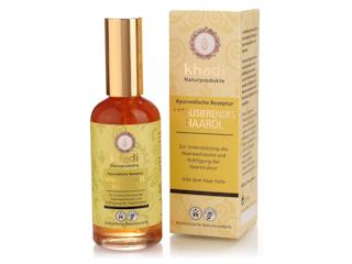 Ajurwedyjski olej Khadi idealny na wypadające włosy.