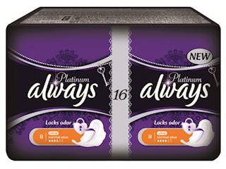 Nowe podpaski Always Platinum z jedwabistą powłoczką i technologią kontroli zapachu.