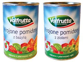 Pomidory krojone Valfrutta.