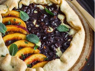 Tarta z ricottą, brzoskwinią i czekoladą