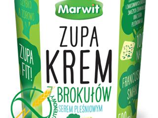 Marwit zupa krem z brokułów z serem pleśniowym.