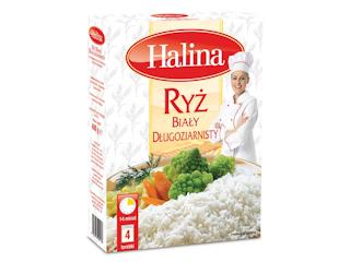 Ryż Biały Długoziarnisty marki Halina.