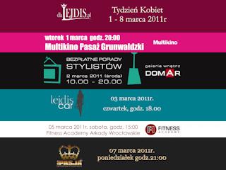 Imprezy kobiece z portalem internetowym dlaLejdis.pl w pierwszym tygodniu marca we Wrocławiu
